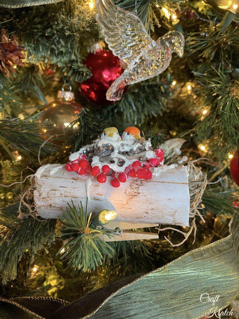 How to make a Bird Christmas Tree Ornament DIY