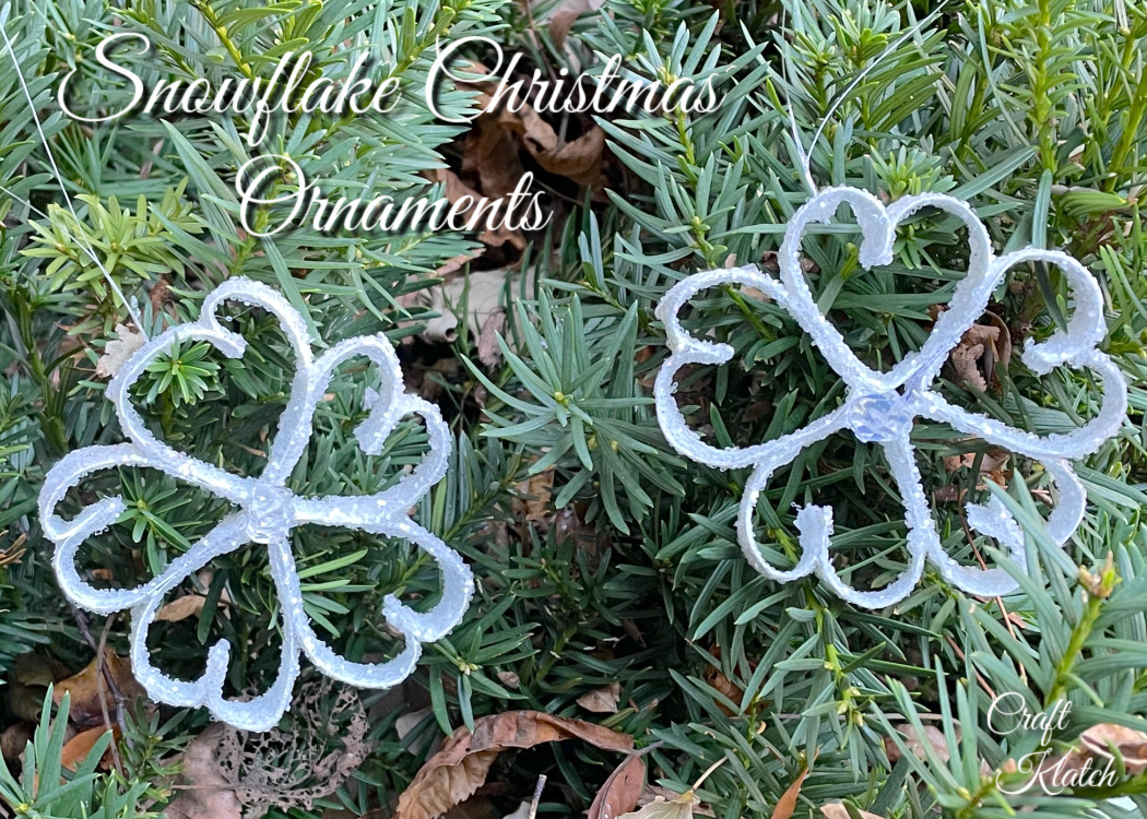 How to make a paper snowflake Christmas ornament
