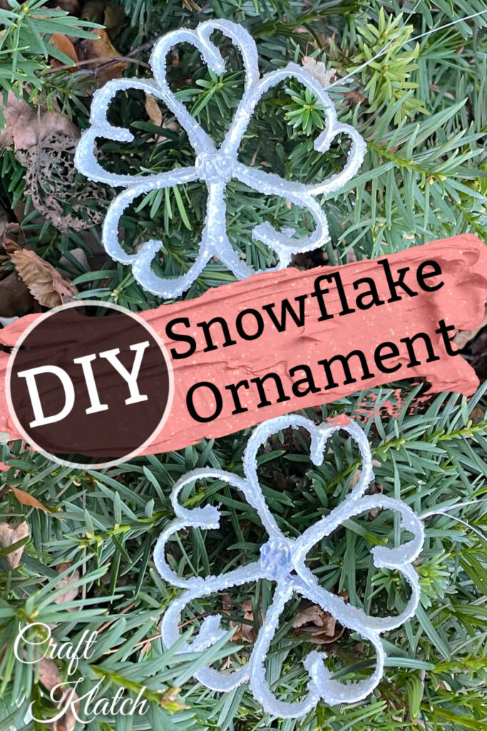 How to make a paper snowflake ornament